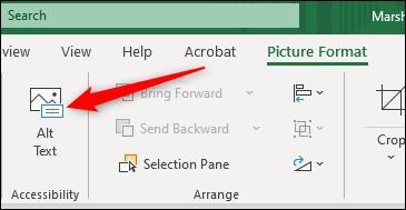 اضافه کردن متن alt به تصویر در اکسل