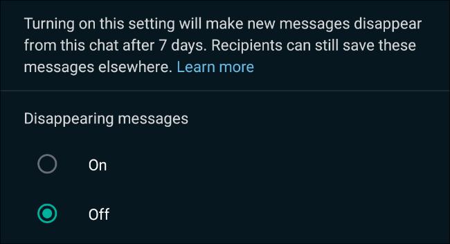 نحوه ارسال پیام های ناپدید شده در واتساپ / ارسال پیام های مدت دار در واتس اپ