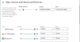 نحوه تنظیم خروجی صدا برنامه ها در ویندوز 10