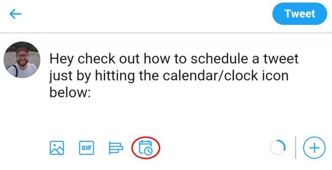 زمان بندی کردن ارسال توییت در توییتر