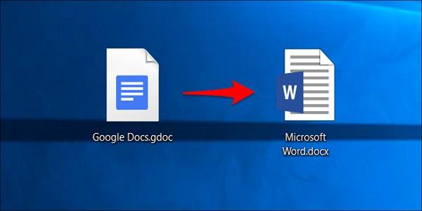 تبدیل سند گوگل داکس به فرمت مایکروسافت آفیس
