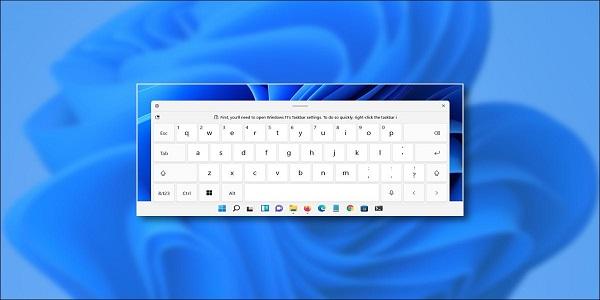 فعال کردن صفحه کلید لمسی در ویندوز 11
